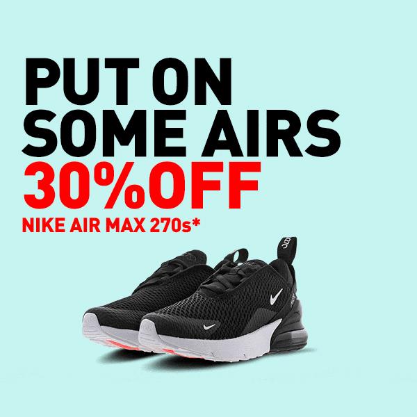 30% off Air Max at Foot Locker