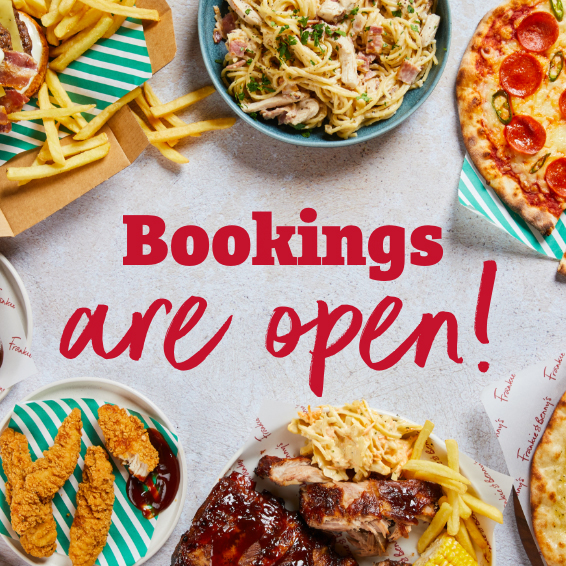 Book in with Frankie & Benny's