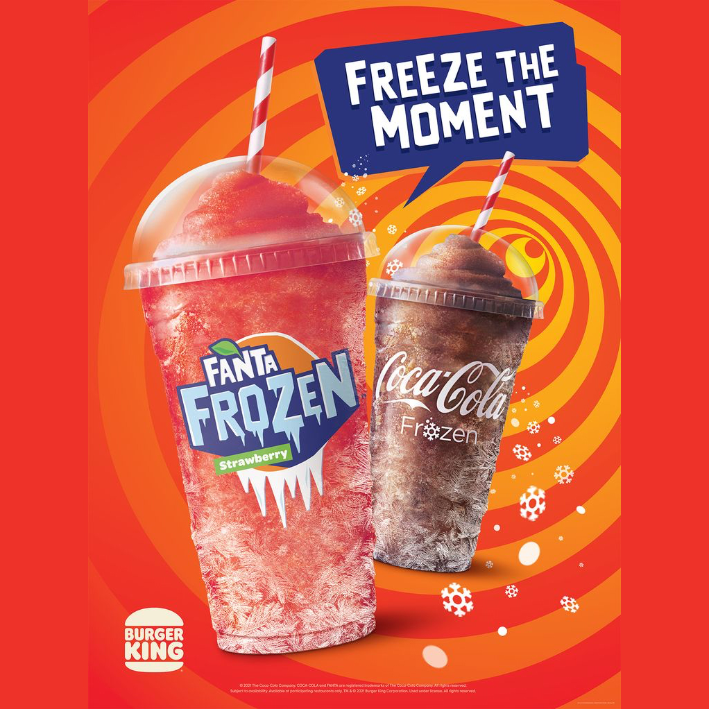 Frozen Fanta Strawberry at Burger King