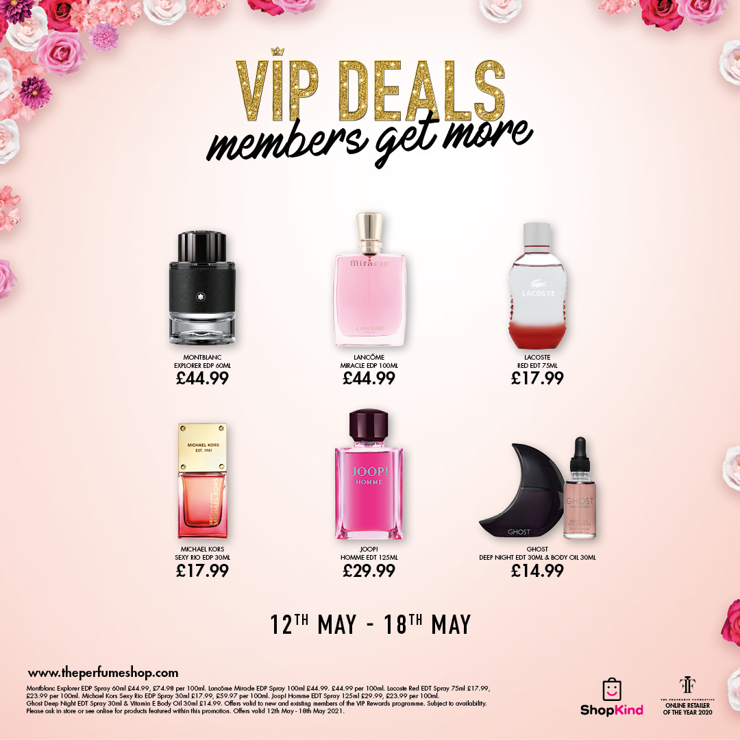 VIP deals at The Perfume Shop