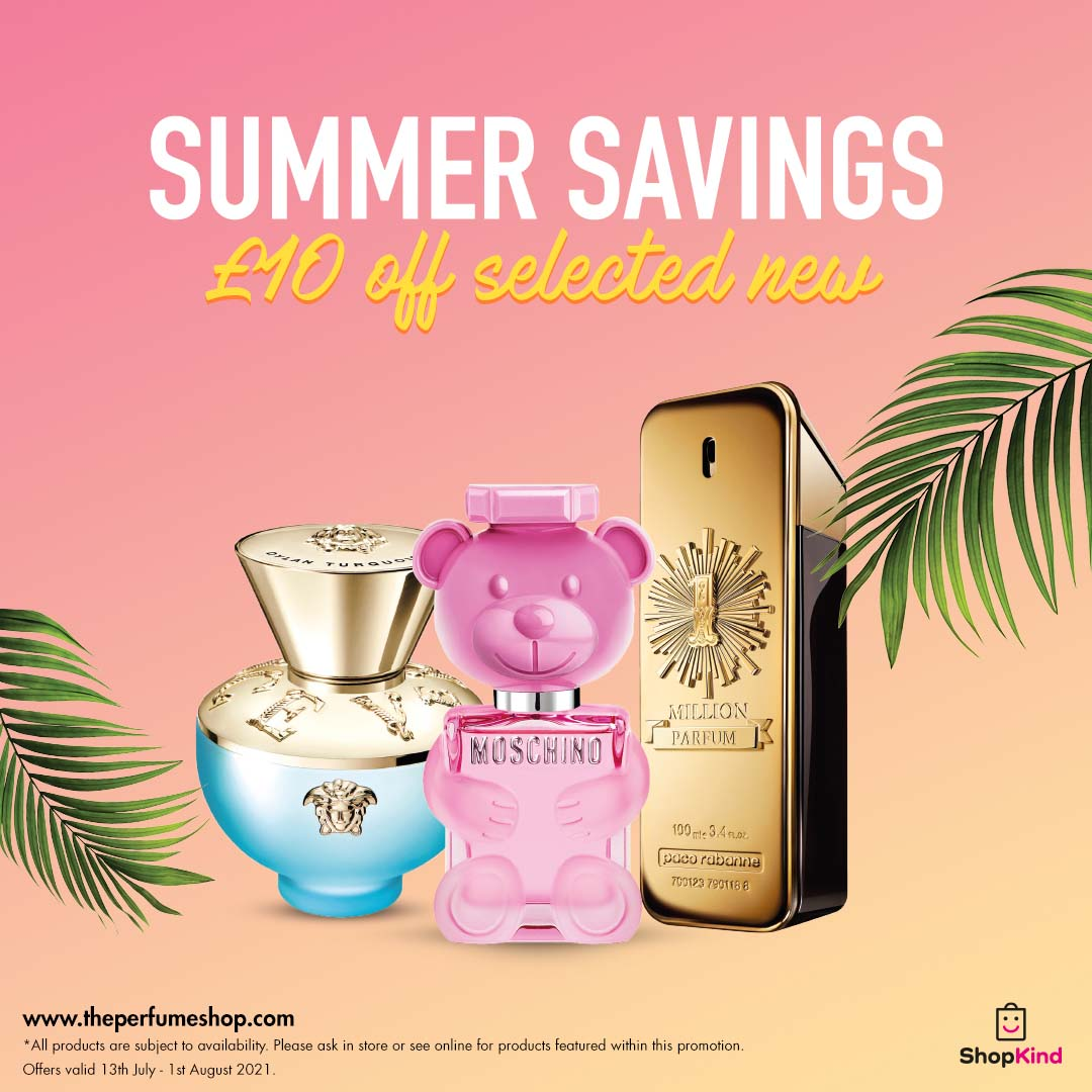Save £10 on new scents at The Perfume Shop