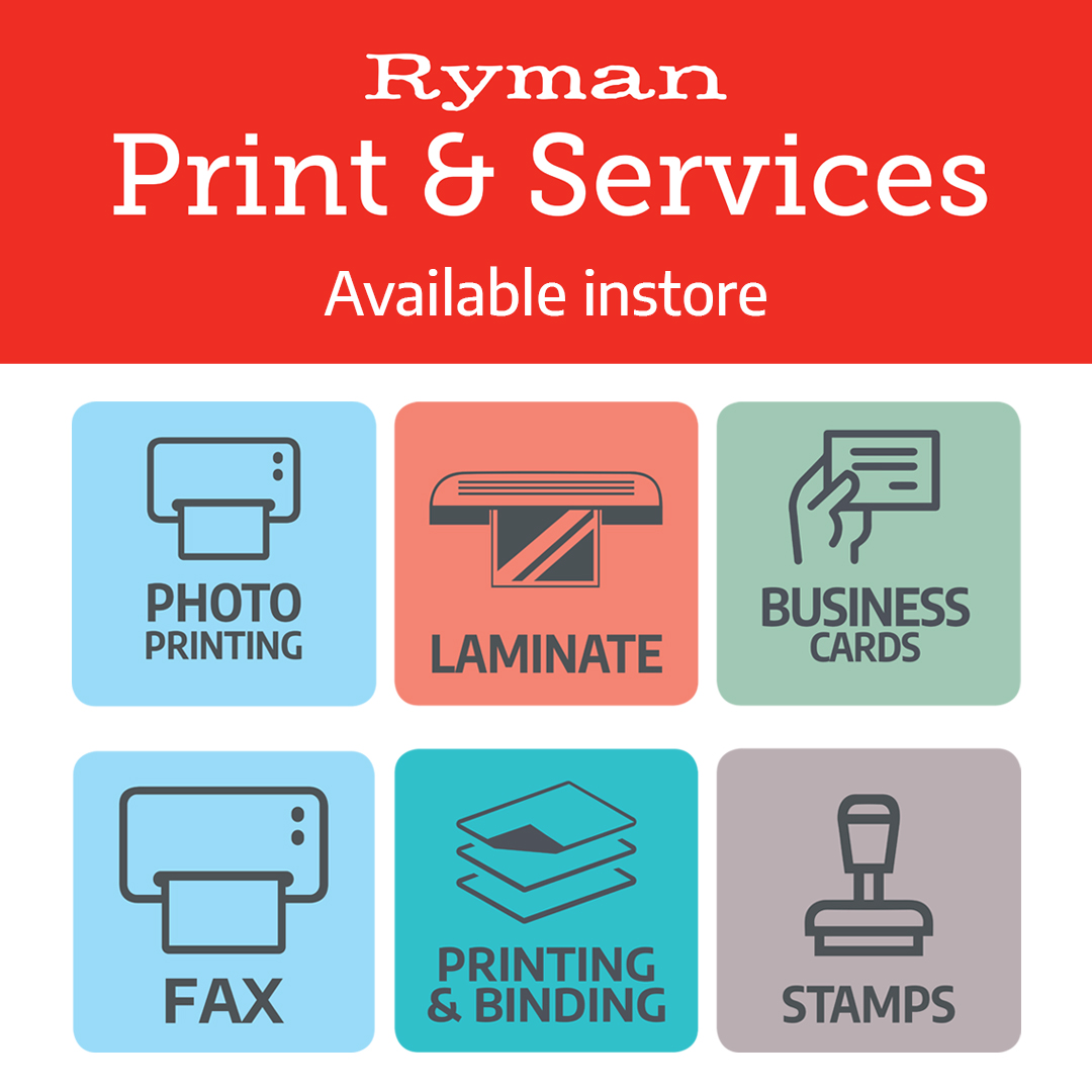 Make use of Ryman's print shop