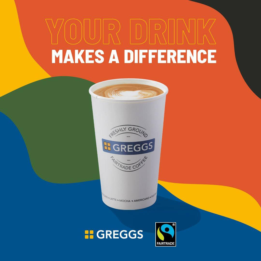 Greggs uses Fairtrade ingredients