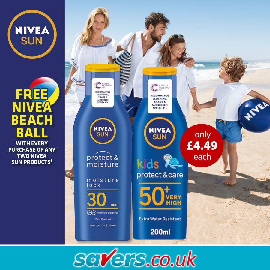 Discover Nivea Sun at Savers