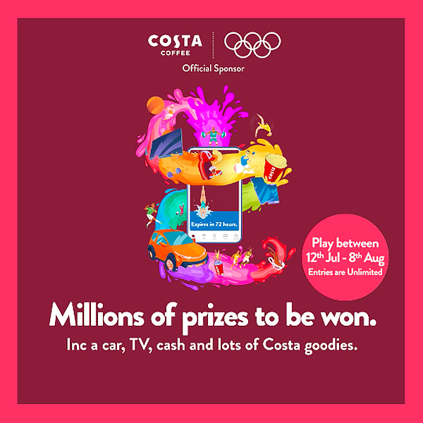 Win more prizes at Costa