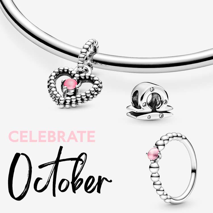 Choose pink for October at Pandora