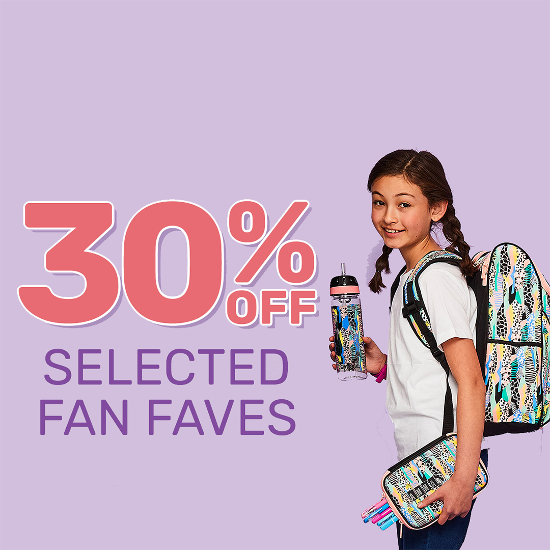 Save on fan faves at Smiggle