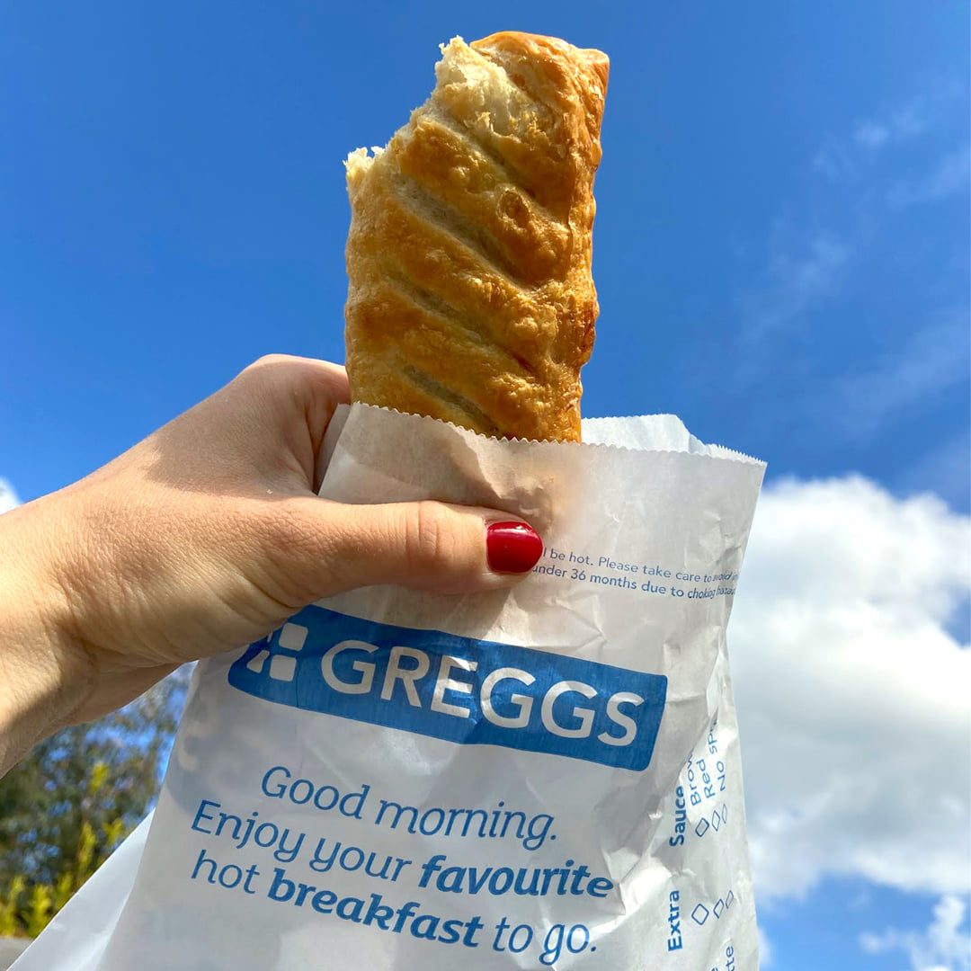 Fill up with a Sausage Roll at Greggs