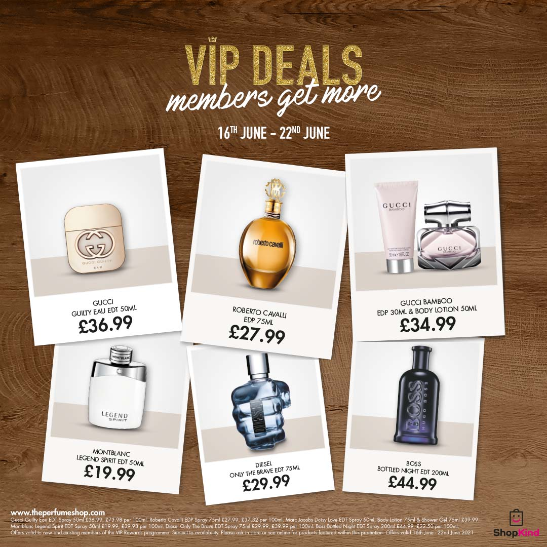 Weekly deals at The Perfume Shop